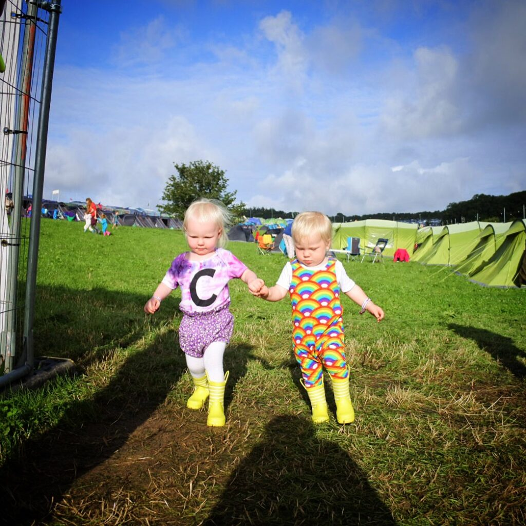 camping with toddlers at a festival