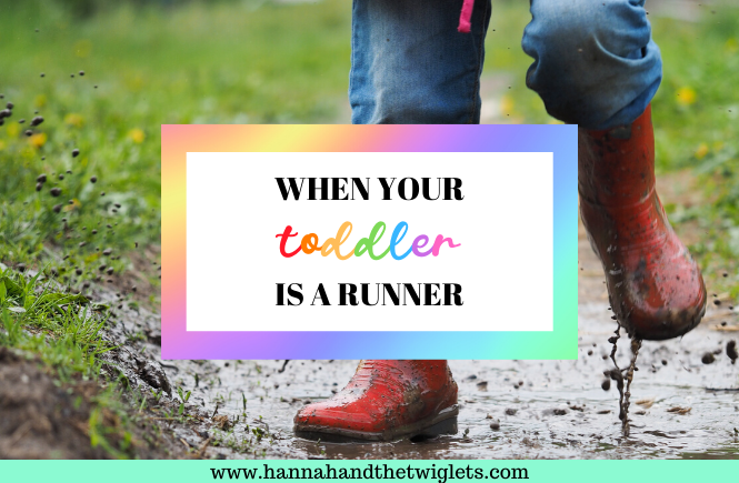 toddler is a runner