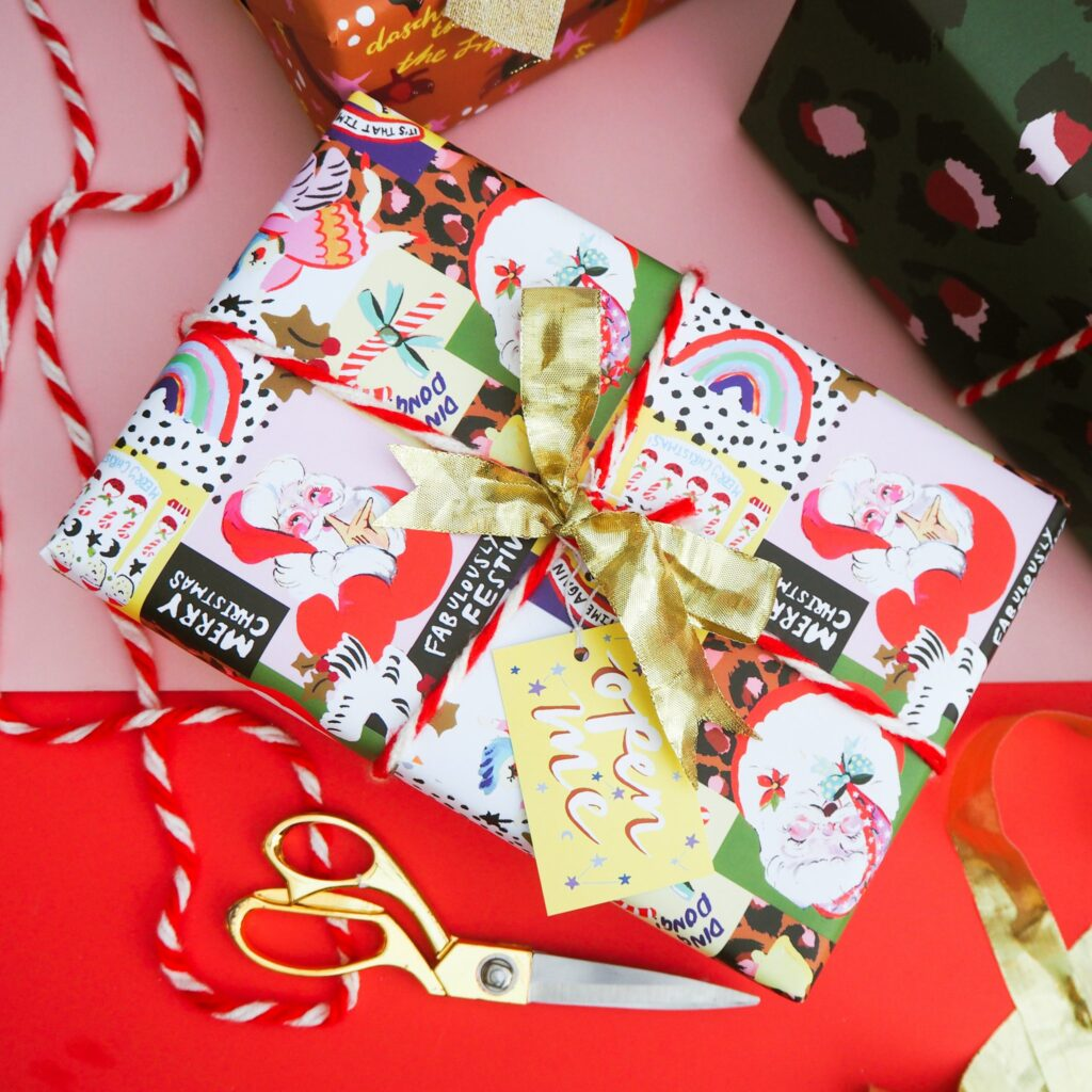 rainbow Christmas wrap