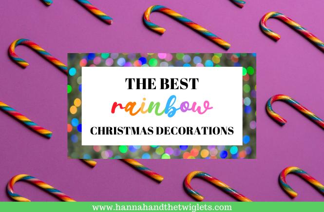 rainbow Christmas decorations