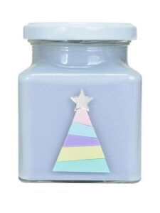 rainbow Christmas candle