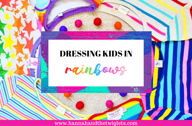 dressing kids in rainbows
