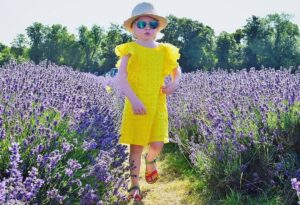 yellow broderie anglaise dress