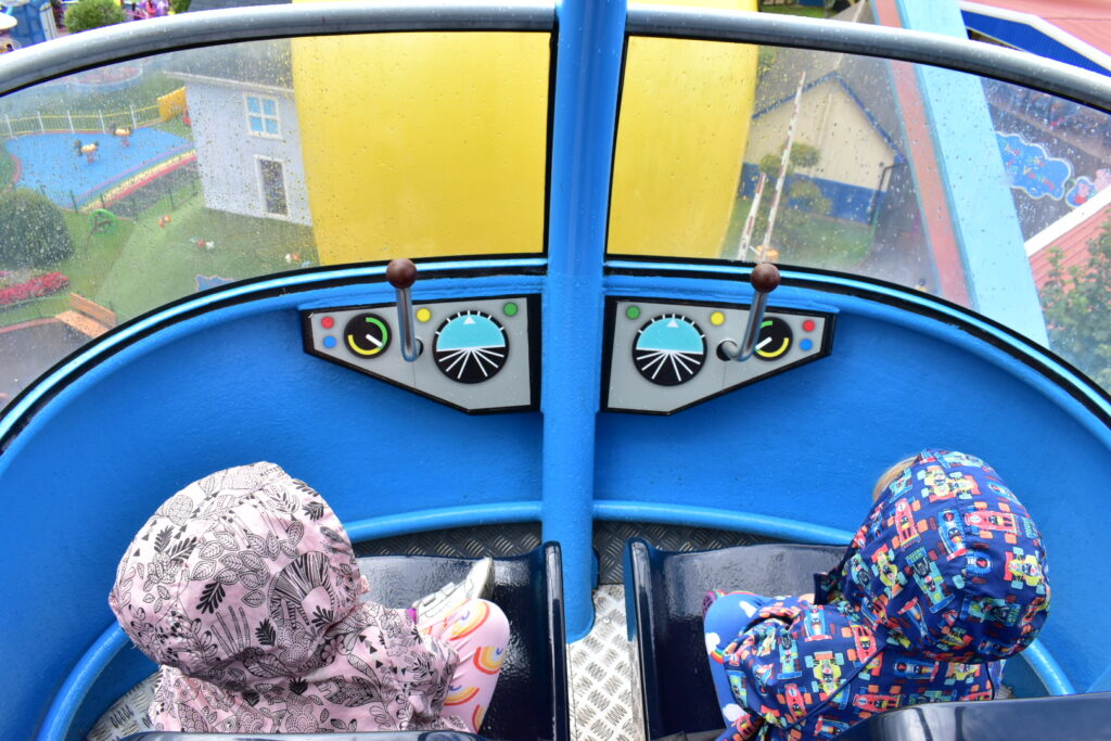 Helicopter ride Peppa Pig World