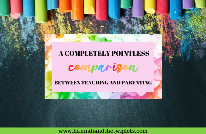 comparison between teaching and parenting