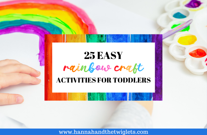 easy rainbow craft activities for toddlers