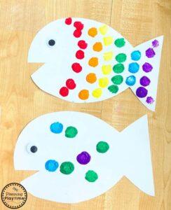 rainbow fish craft activity