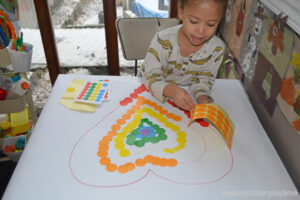 rainbow craft activity for toddlers