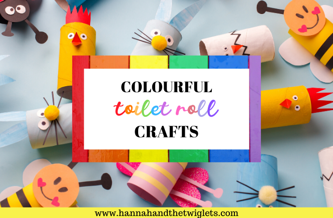 colourful toilet roll crafts