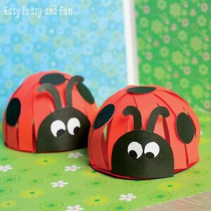 paper ladybird craft