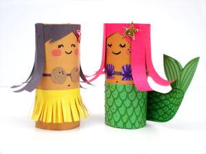 Hula girl and mermaid craft