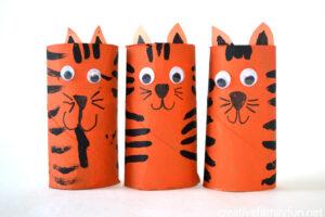 tiger toilet roll craft
