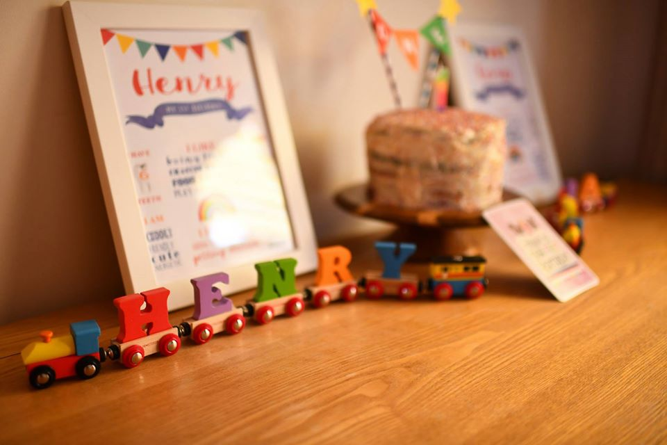 colourful name train