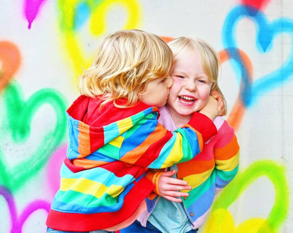 rainbow kids photo