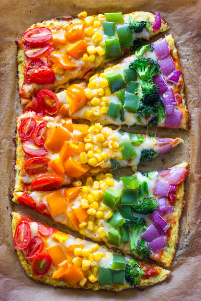 rainbow savoury pizza recipe