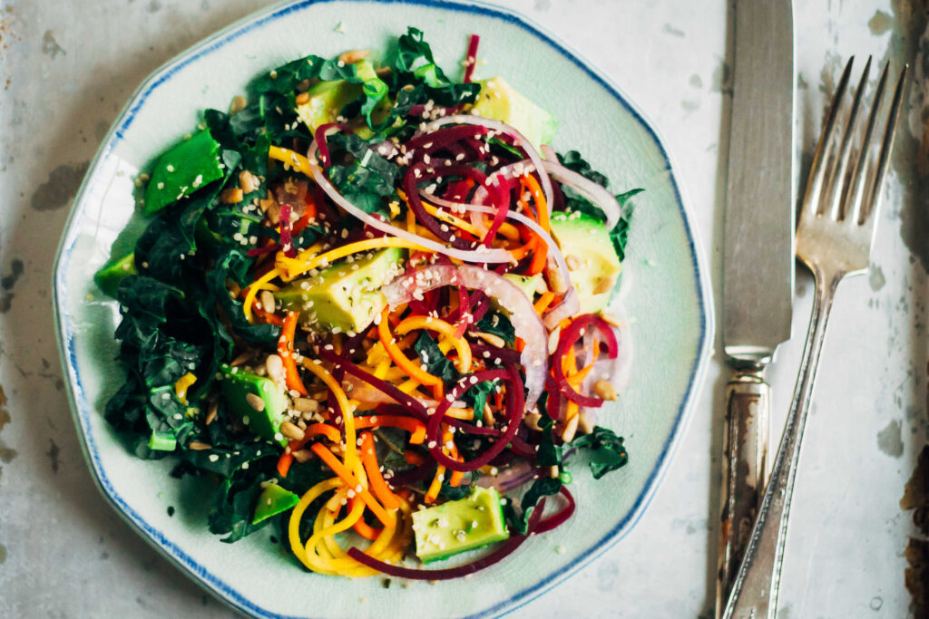 rainbow chakra salad