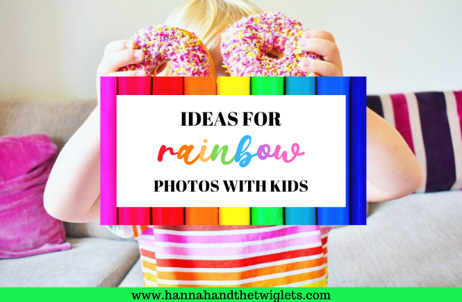 ideas for rainbow photos with kids