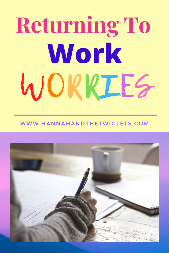 returning to work worries