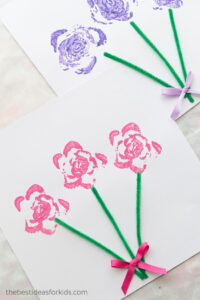 celery stamping flower bouquet craft activities for kids