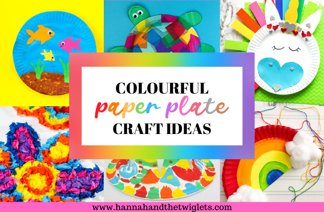 colourful paper plate craft