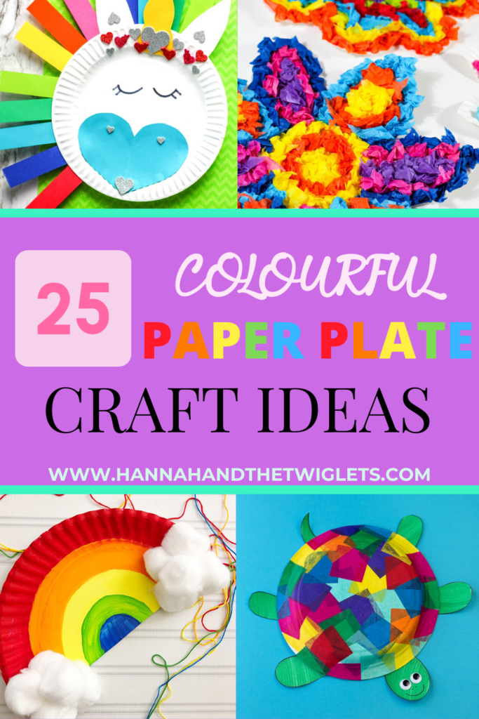 colourful paper plate crafts