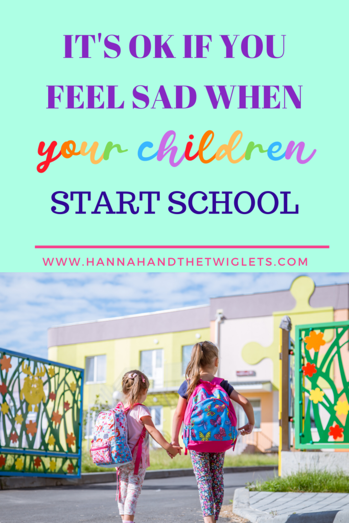 feeling sad when children start school