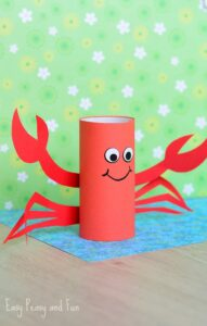 toilet roll crab easy under the sea craft ideas