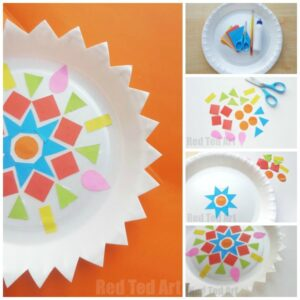 Rangoli paper plate craft
