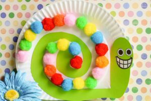 rainbow snail craft