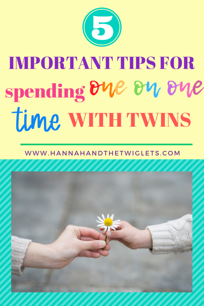 tips for spending one on one time with twins