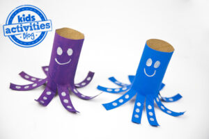 toilet roll octopus craft idea