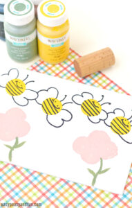 bee stamping craft idea