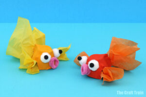 egg carton fish craft idea