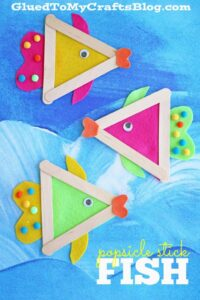 lolly stick fish