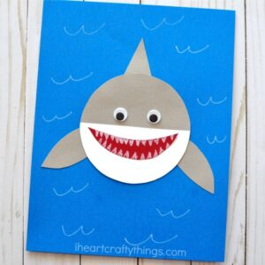 paper shark craft
