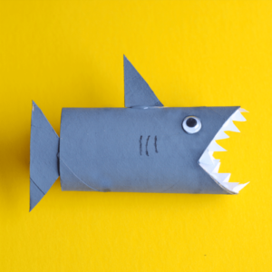 toilet roll shark craft