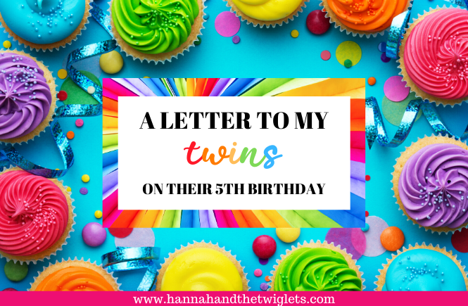 twins fifth birthday