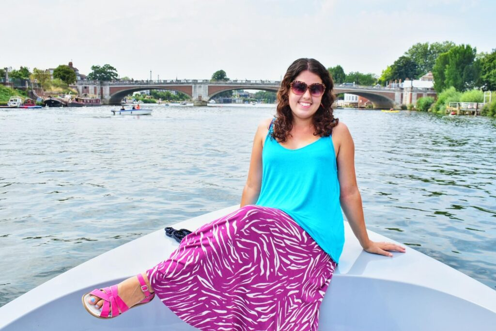 Woman on GoBoat