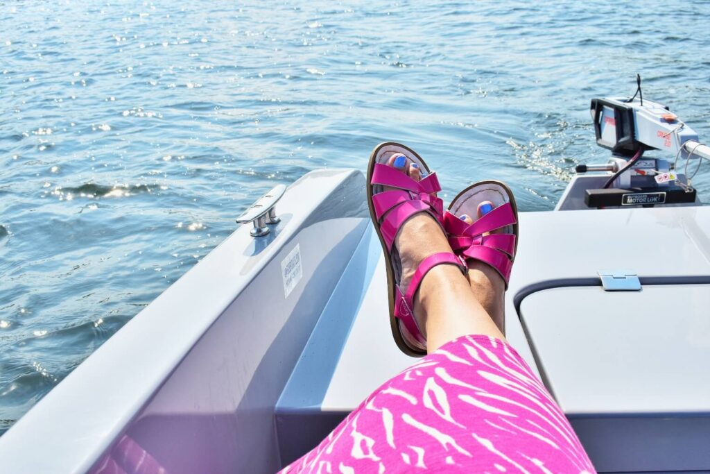 Relaxing on a GoBoat