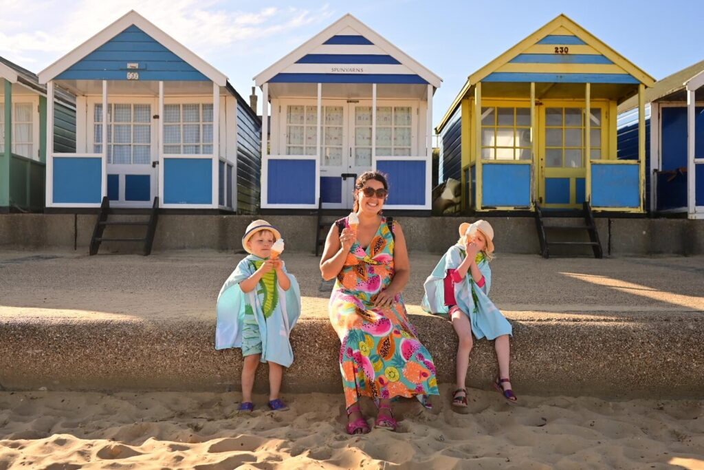 Family holiday in Suffolk Southwold Beach