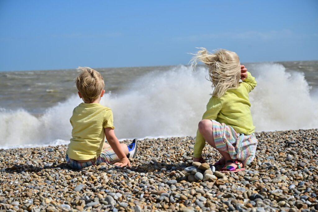 Huge waves at Aldeburgh Suffolk