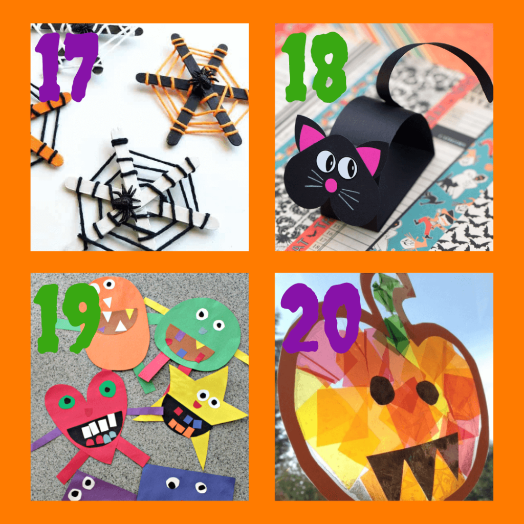 Easy craft ideas for  Halloween