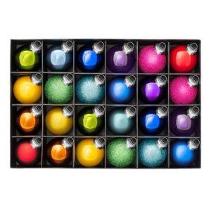 rainbow Christmas baubles